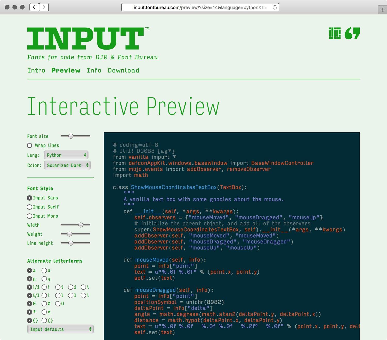 Input-website-Preview