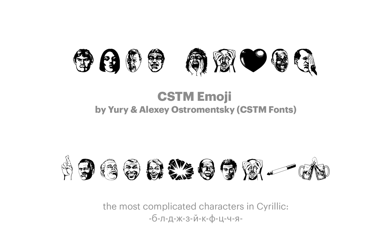 CSTM-Emoji--by-Yury-&-Alexey-Ostromentsky-(CSTM-Fonts)